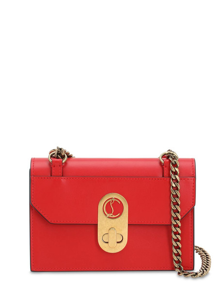 CHRISTIAN LOUBOUTIN Mini Elisa Leather Shoulder Bag in red