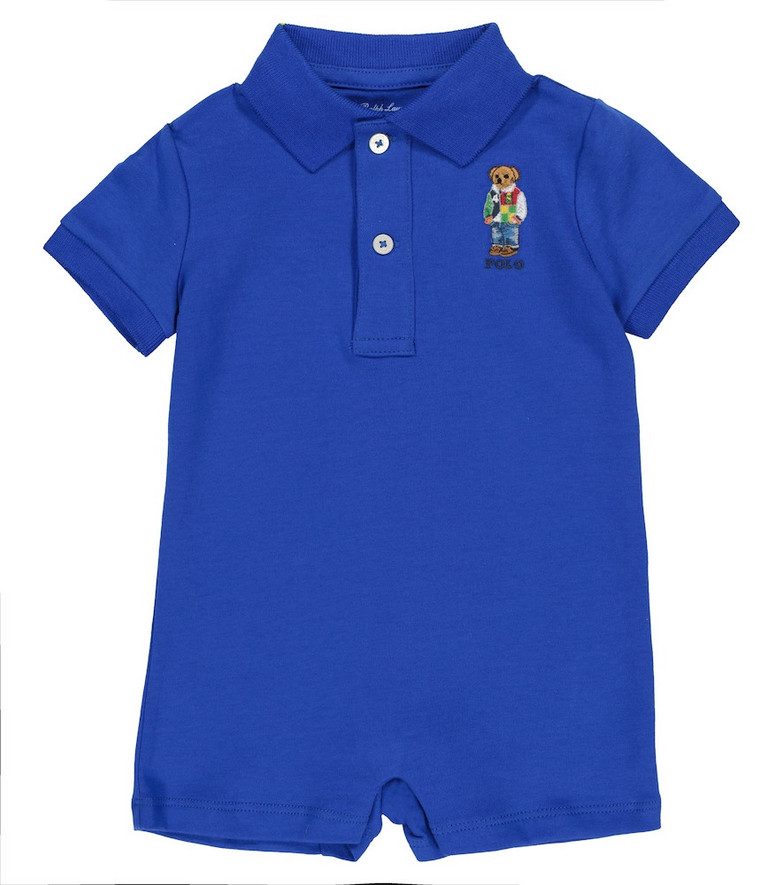 Polo Ralph Lauren Kids Baby cotton playsuit in blue