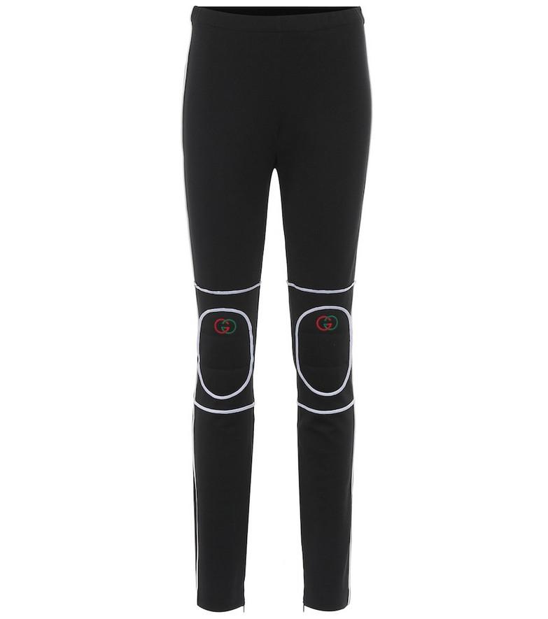 Gucci Cotton-blend jersey leggings in black