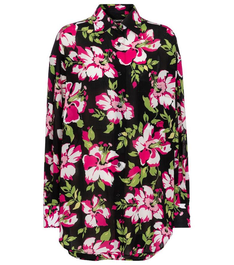 Tom Ford Floral shirt in black