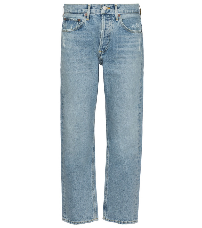 Agolde Parker high-rise straight jeans in blue