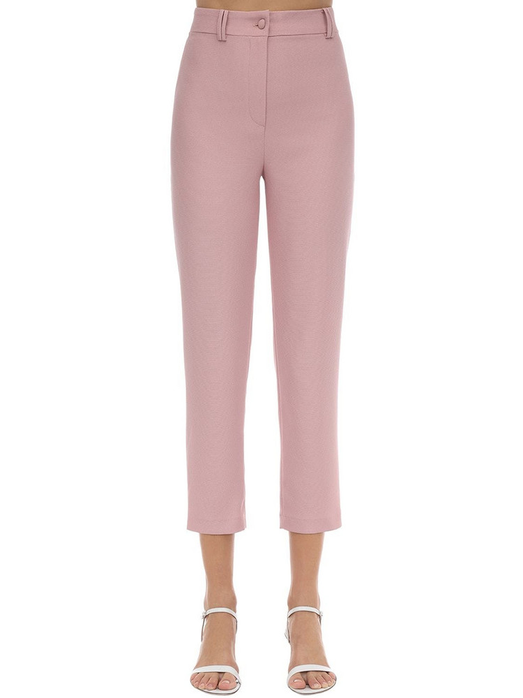 HEBE STUDIO Lou Lou Cady Straight Pants in blush