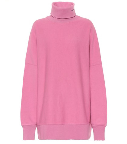 Calvin Klein 205W39NYC Oversized logo cotton sweater in pink