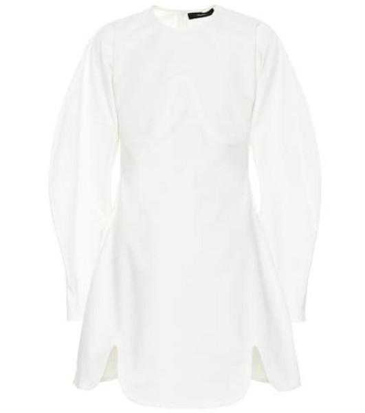 Ellery Teeny Voluminous Sleeve cotton dress in white