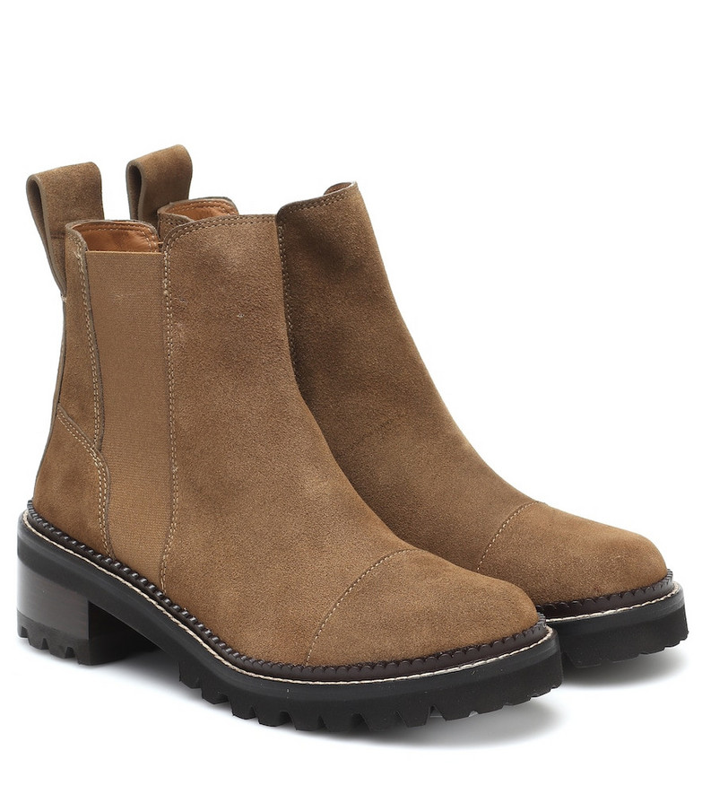 See By Chloé Suede ankle boots in brown