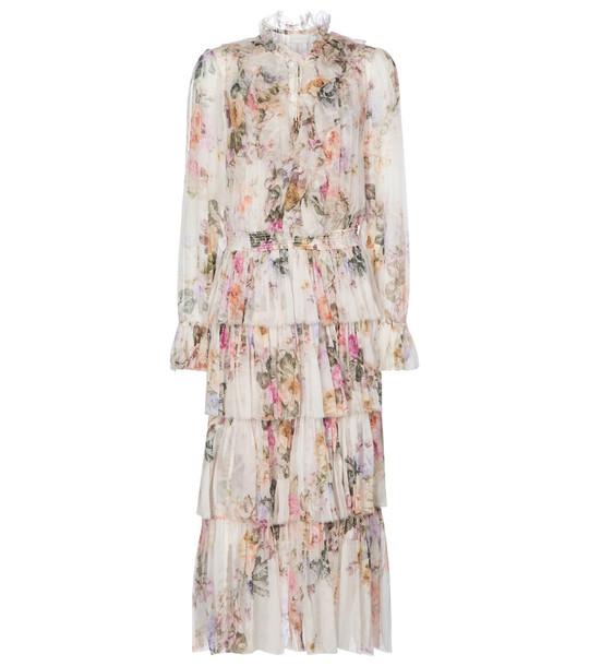 Zimmermann Brighton silk georgette midi dress