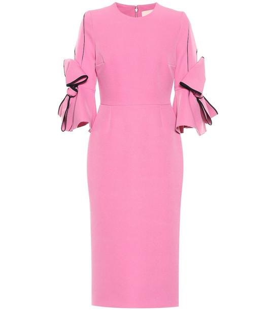 Roksanda Lavete crêpe midi dress in pink