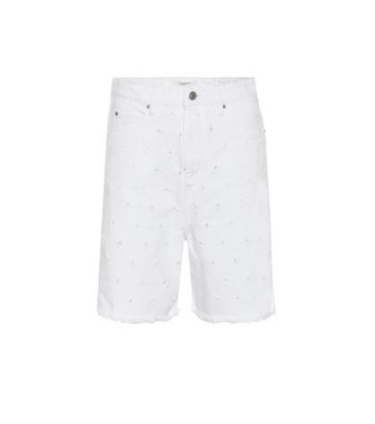 Isabel Marant, Étoile Liny distressed denim shorts in white