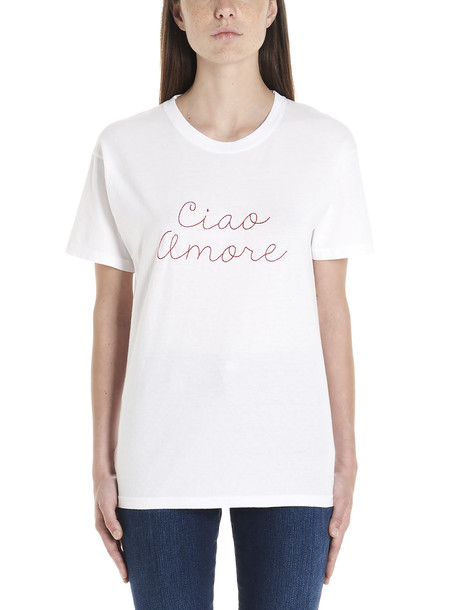 Giada Benincasa 'ciao Amore' T-shirt in white