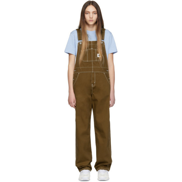 Carhartt Work In Progress Brown W'Bib Straight Overalls