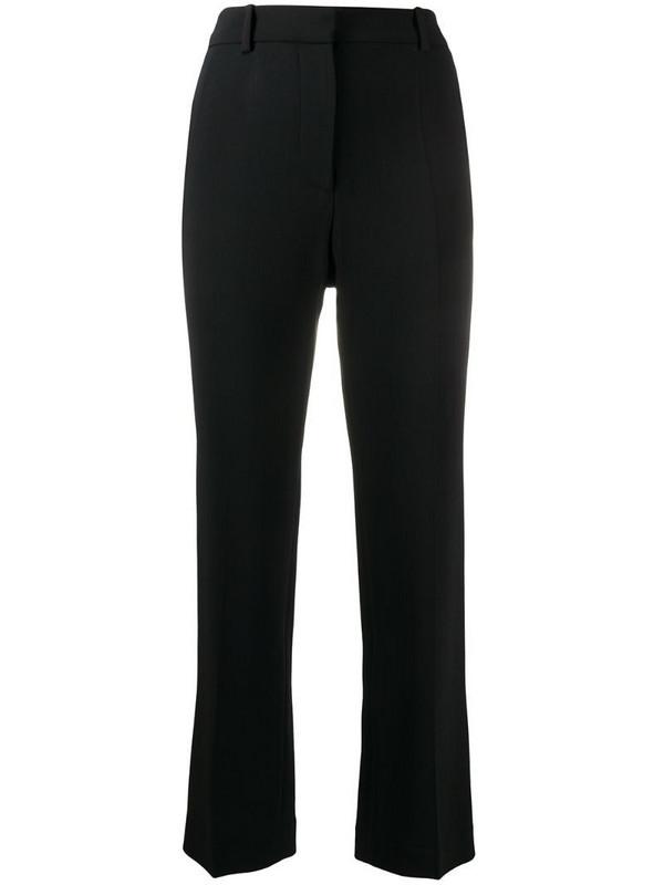 Joseph high-rise straight-leg cropped trousers in black