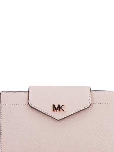 Michael Kors Pebbled Leather Messenger Bag in pink