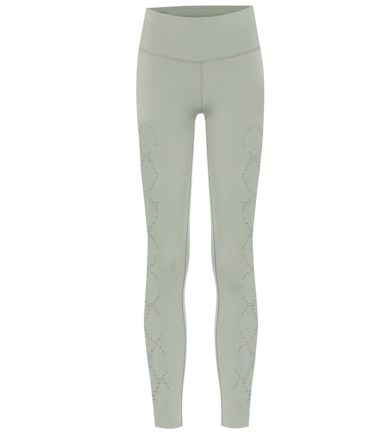 Varley Hughes laser-cut leggings in grey