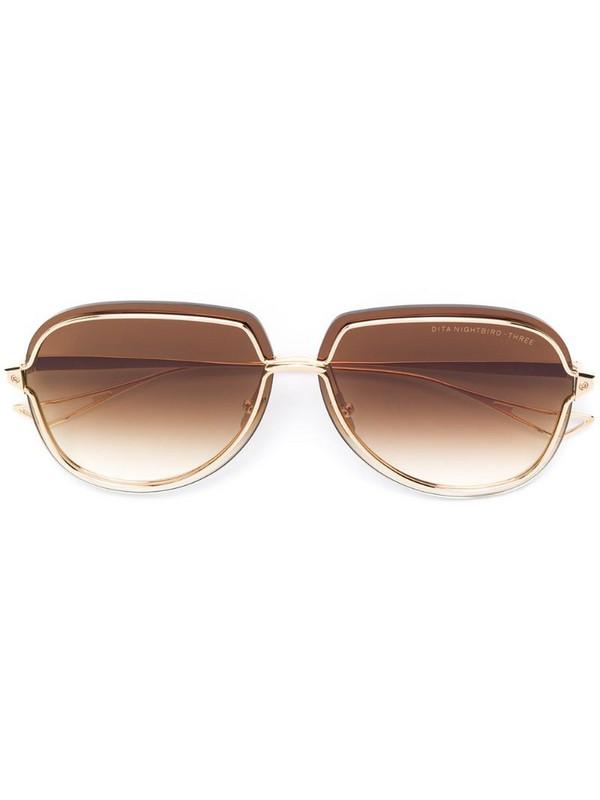 Dita Eyewear Nightbird-three sunglasses in gold