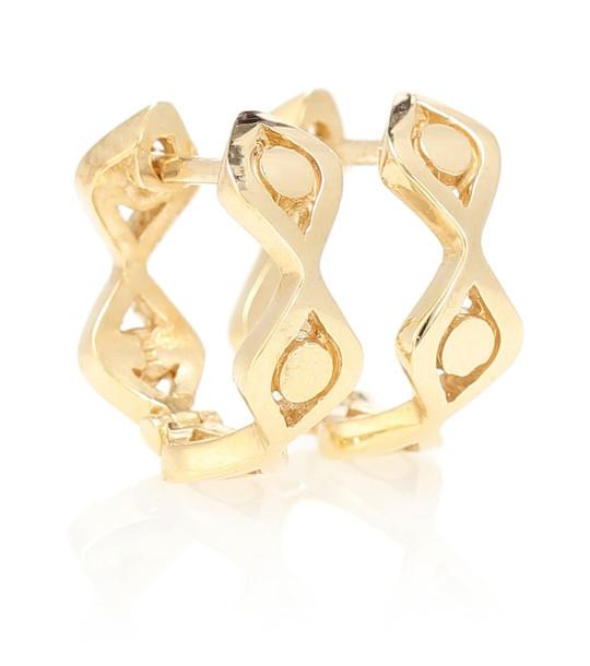 Sydney Evan Evil Eye 14kt gold hoop earrings