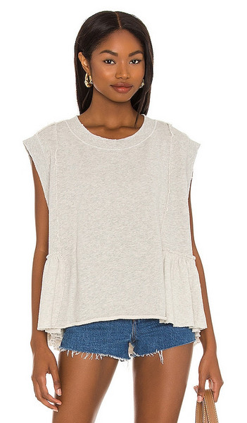 Free People Danny Pullover in Cream in grey / sand