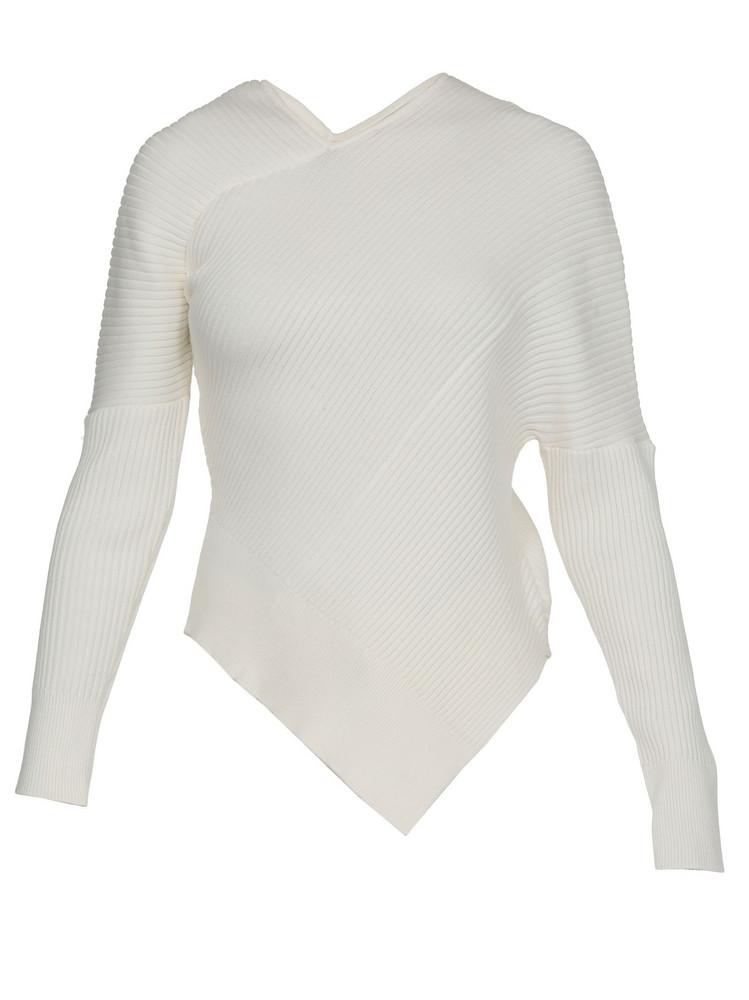 AALTO Asymmetric Sweater in ecru
