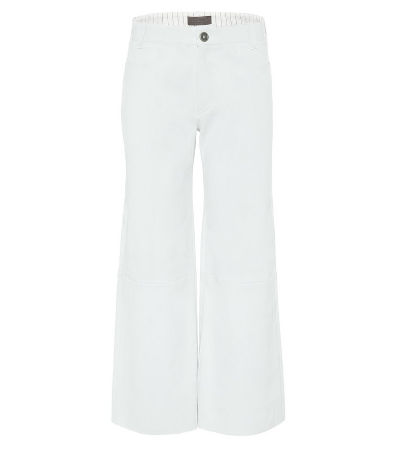 Stouls Lilou high-rise leather pants in white