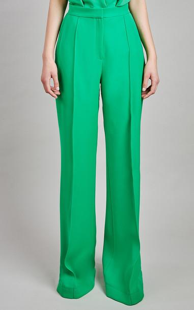 Elie Saab Crepe Pants in green