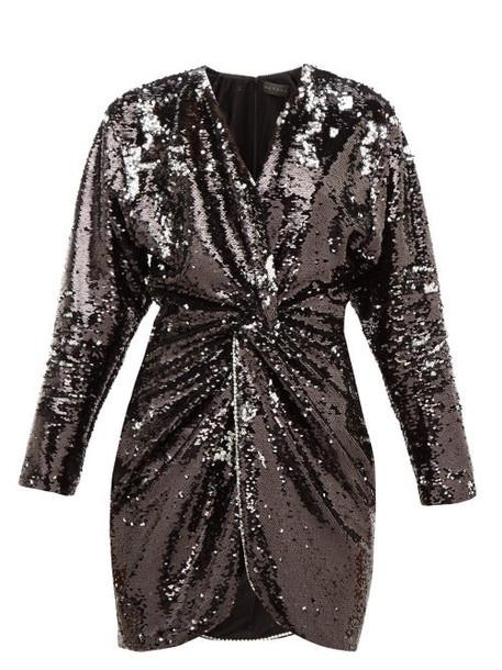 Dundas - Crystal-trim Flip-sequinned Jersey Mini Dress - Womens - Black