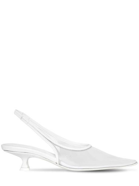 MM6 MAISON MARGIELA 40mm Plastic Slingback Sandals in transparent