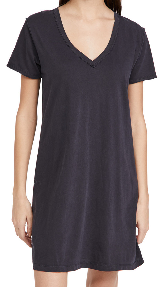 Z Supply Cotton T-Shirt Dress in black