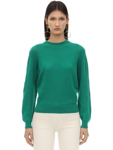KHAITE Viola Cashmere Knit Sweater in green