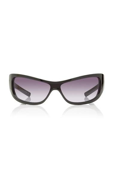 Adam Selman X Le Specs The Monster Acetate Square-Frame Sunglasses in black