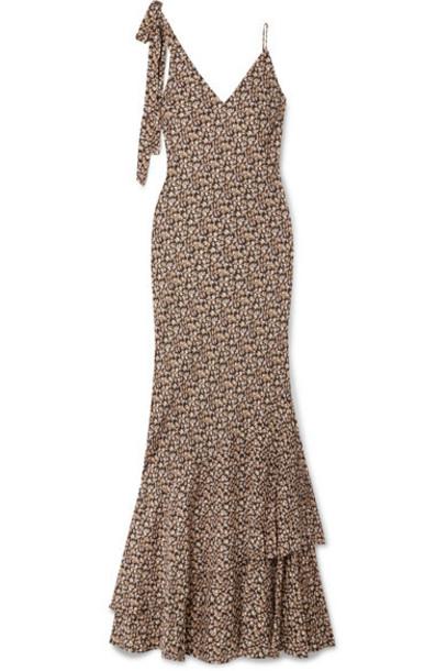 Rebecca Vallance - Ellie Floral-print Crepe Maxi Dress - Black