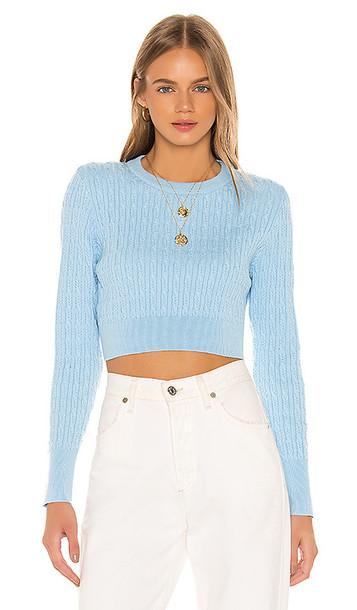 LPA Poppy Sweater in Baby Blue