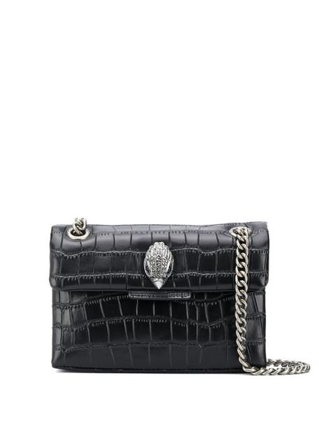 Kurt Geiger London Kensington Croc Mini shoulder bag in black