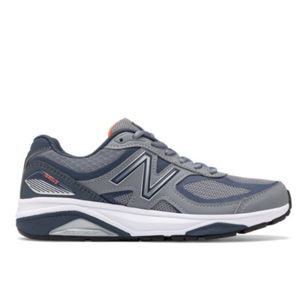New Balance 1540v3 Made in US Women's Motion Control Shoes - Grey/Orange (W1540GD3)