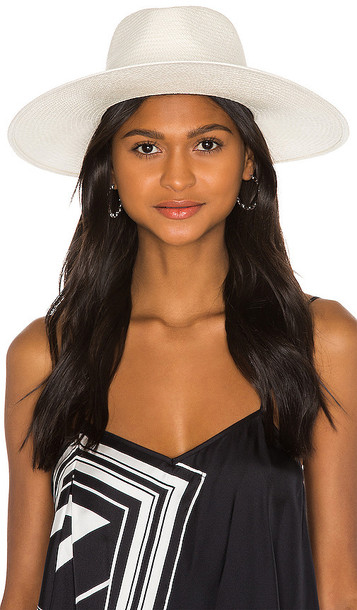 Rag & Bone Wide Brim Panama Hat in White