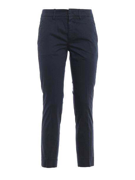 Dondup Rocio Dark Blue Stretch Cotton Trousers