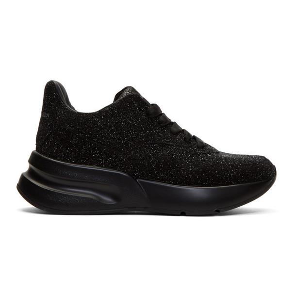 Alexander McQueen Black Galaxy Oversized Runner Sneakers