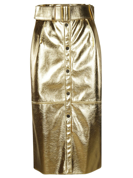 MSGM Belted Skirt in gold