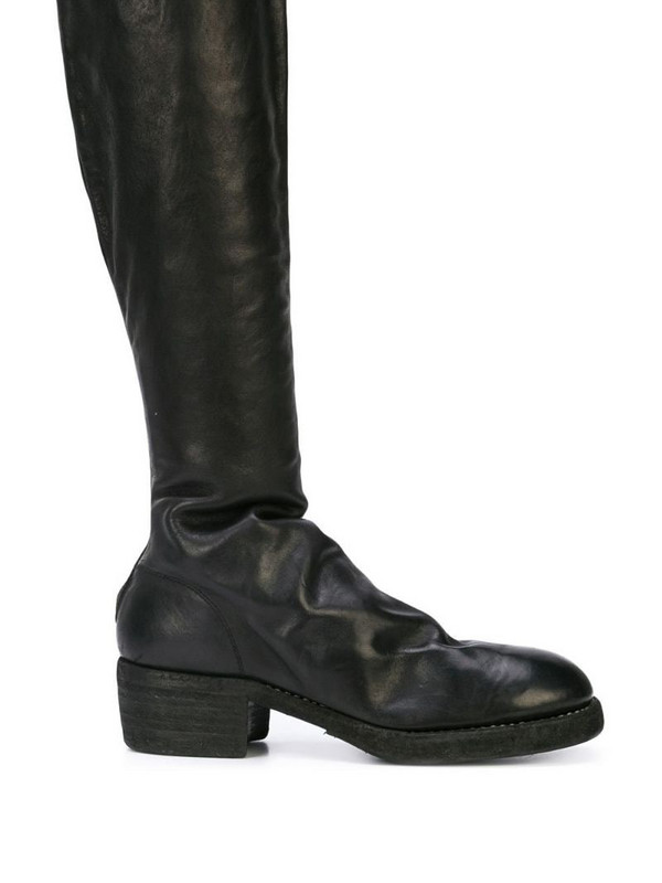 Guidi knee length boots in black