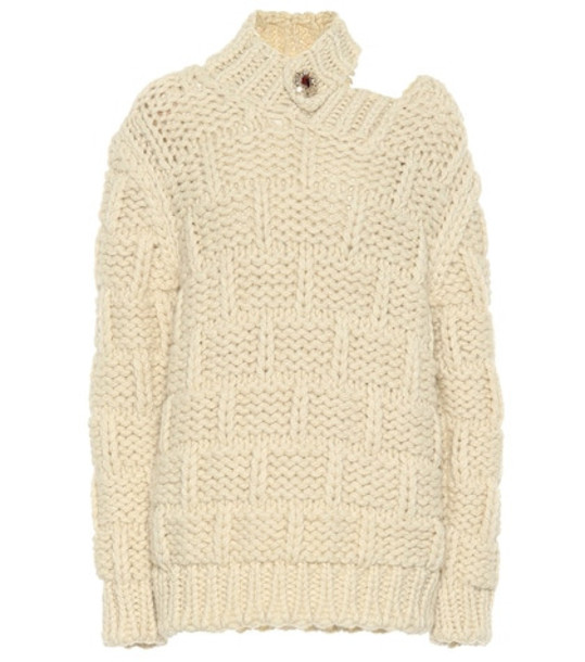 Calvin Klein 205W39NYC Wool and mohair sweater in beige