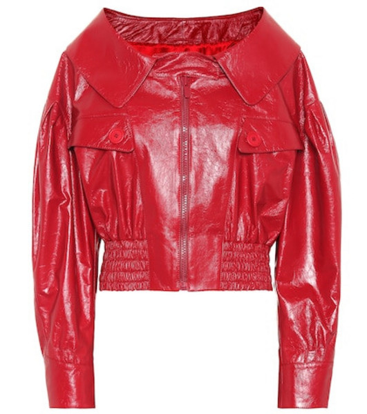 Miu Miu Leather jacket in red