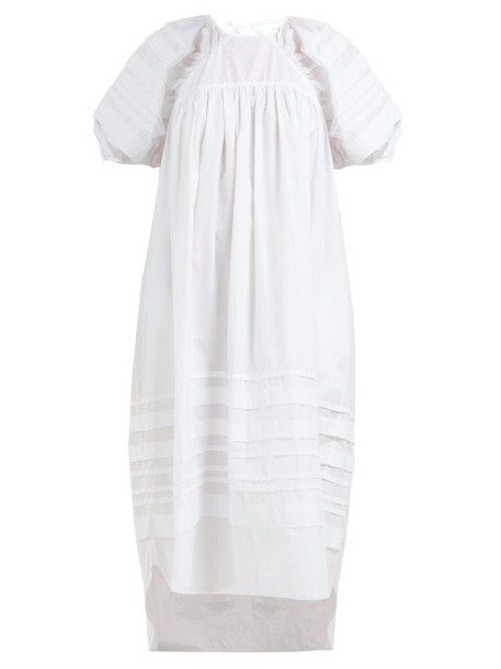 Cecilie Bahnsen - Penelope Puff Sleeve Cotton Dress - Womens - White
