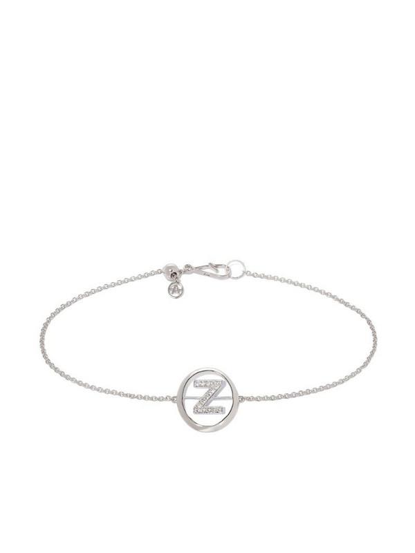 Annoushka 18ct White Gold Diamond Initial Z Bracelet in silver