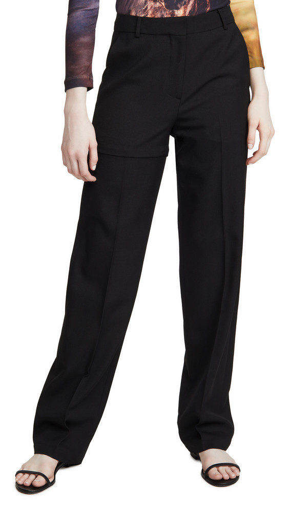 pushBUTTON Transformer Two-Way Pants in black