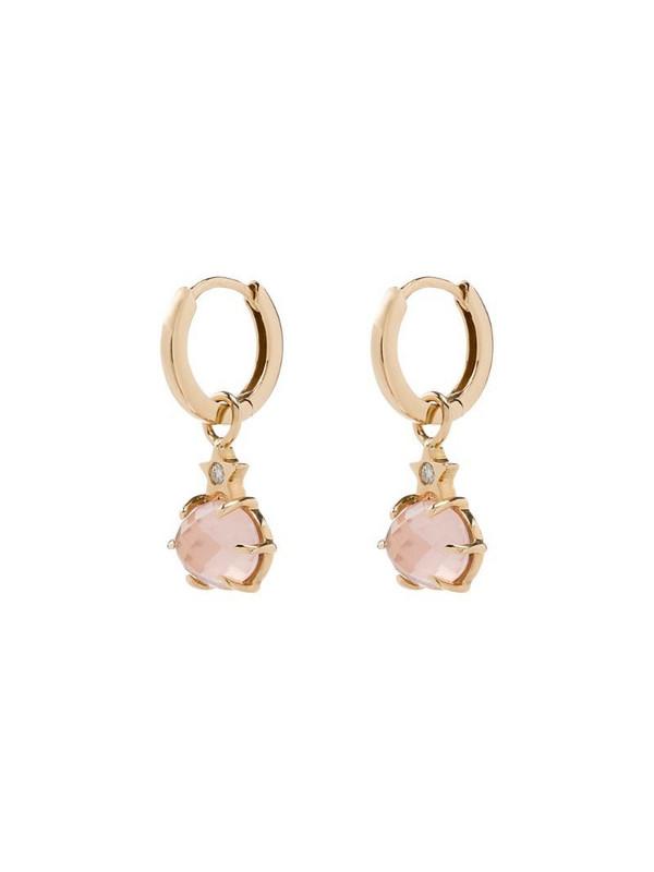 Andrea Fohrman 14kt yellow gold rose quartz earrings