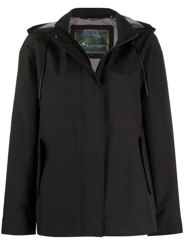 Moose Knuckles lightweight rain coat in black