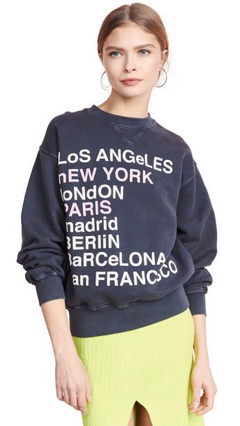 ANINE BING City Love Sweatshirt in charcoal