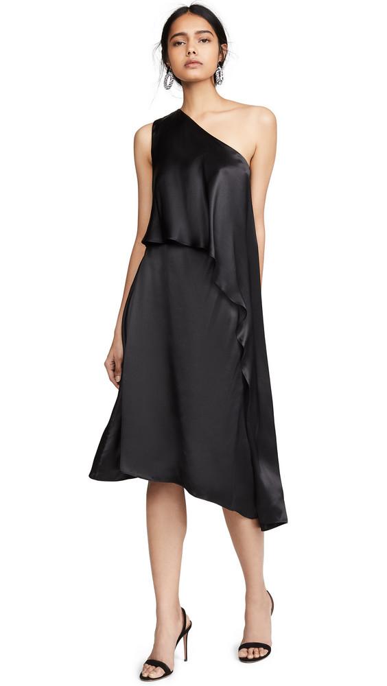 Edition10 One Shoulder Mini Dress in black