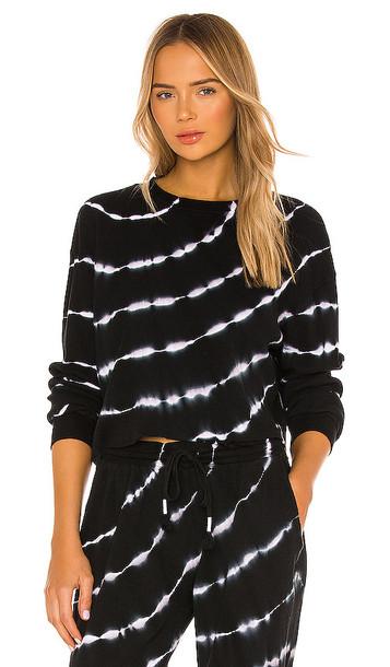 STRUT-THIS Axel Thermal Sweatshirt in Black
