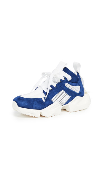 Unravel Project Low Sneakers in blue / white