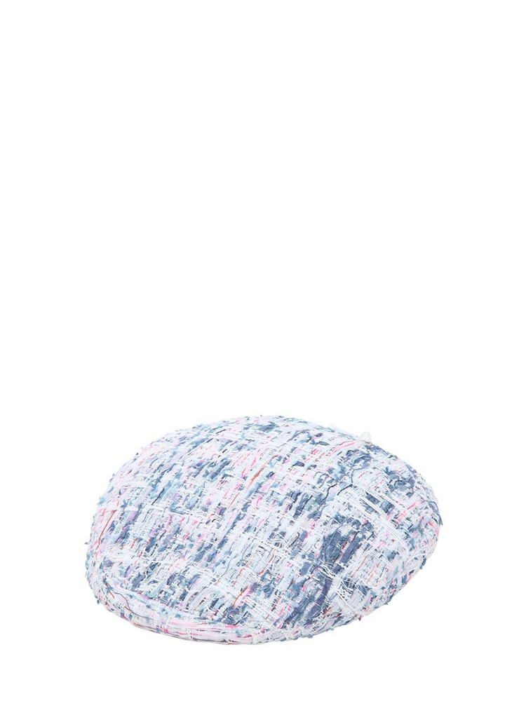 EUGENIA KIM Cher Boucle Hat in blue / pink / white