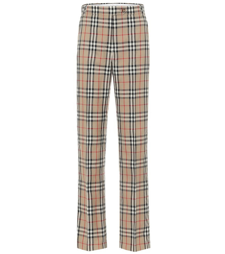 Burberry Vintage Check high-rise pants in beige